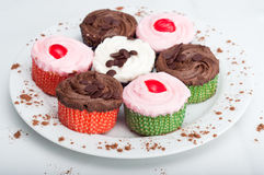 Plate of Cupcakes Royalty Free Stock Images