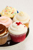 Plate with cupcakes Stock Image