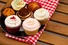 Plate with cupcakes Royalty Free Stock Image