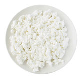 Plate with curds Royalty Free Stock Photos
