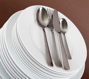 Plate and cutlery Stock Image