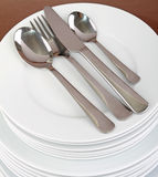 Plate and cutlery Stock Photography