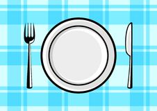 Plate and cutlery Royalty Free Stock Image