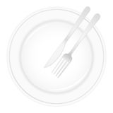 Plate and cutlery stock illustration