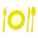 Plate with cutlery  abstract bannerVector illustration background Royalty Free Stock Photography