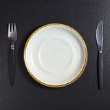 Plate and cutlery Stock Photo