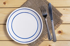 Plate and cutlery Royalty Free Stock Photo