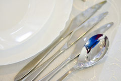 Plate with cutlery Royalty Free Stock Image