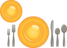 Plate with Cutlery Royalty Free Stock Photography