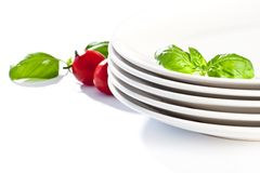 Plate Decorated Stock Photography