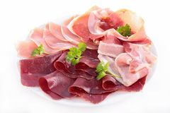 Plate of delicatessen Royalty Free Stock Images