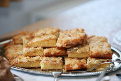Plate of delicious almond cookies Royalty Free Stock Photo