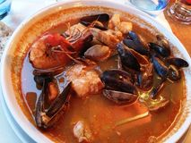 plate of delicious seafood Stock Image