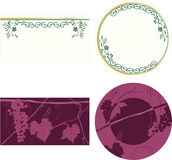 Plate design. And bar ornate Stock Images