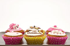 Plate with different cakes Royalty Free Stock Photography