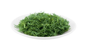 Plate with dill. Royalty Free Stock Images