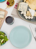 Plate on a dining table Stock Photography