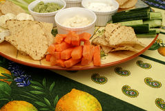 A Plate Of Dips Royalty Free Stock Images