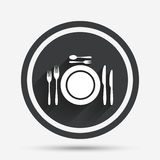 Plate dish with forks and knifes. Stock Image