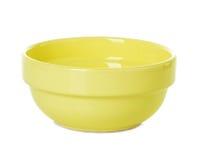 Plate dish yellow Stock Image