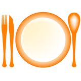 Plate and dishes Royalty Free Stock Photos