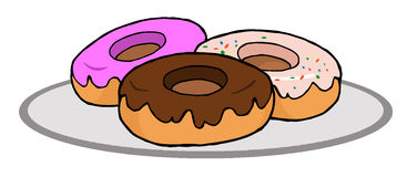 Plate Of Donuts Stock Image
