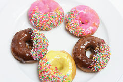 Plate of Doughnuts Royalty Free Stock Photo