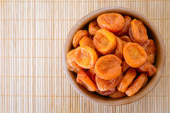 Plate with dried apricots Royalty Free Stock Photo
