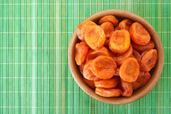 Plate with dried apricots Royalty Free Stock Photography