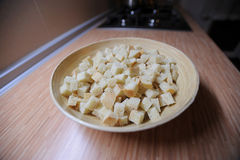 Plate of dried crusts Royalty Free Stock Image