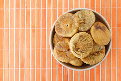 Plate with dried figs Stock Photography