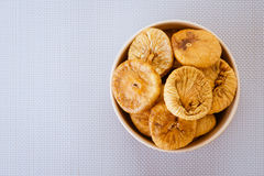 Plate with dried figs Stock Images