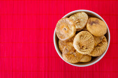 Plate with dried figs Stock Image