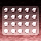 Plate drugs blended pink and black gradient Stock Photos