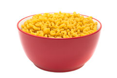 Plate with dry macaroni Stock Image