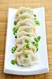 Plate of dumplings Royalty Free Stock Photos