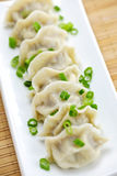Plate of dumplings Stock Photography