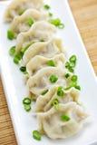 Plate of dumplings Stock Photography