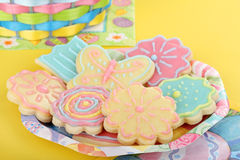 Plate of Easter Cookies Stock Images