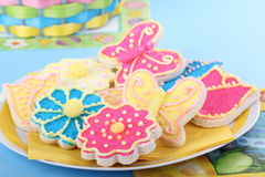 Plate of Easter Cookies Royalty Free Stock Image