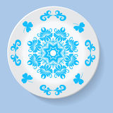 Plate with elegance tribal ornament mandala. Vector illustration Stock Images