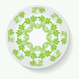 Plate with elegance tribal ornament mandala. Vector illustration Royalty Free Stock Photography