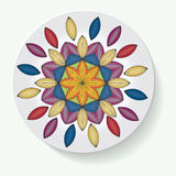 Plate with elegance tribal ornament mandala. Vector illustration Stock Photography
