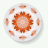 Plate with elegance tribal ornament mandala. Vector illustration Stock Photos