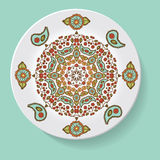 Plate with elegance tribal ornament mandala. Vector illustration Royalty Free Stock Images
