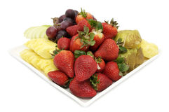 Plate with exotic fruits Stock Photo