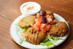 Plate of falafel Stock Photography
