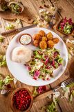 Plate of falafel Royalty Free Stock Image