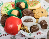 Plate of fancy cookies for holiday Royalty Free Stock Images