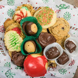 Plate of fancy cookies for holiday Royalty Free Stock Photos
